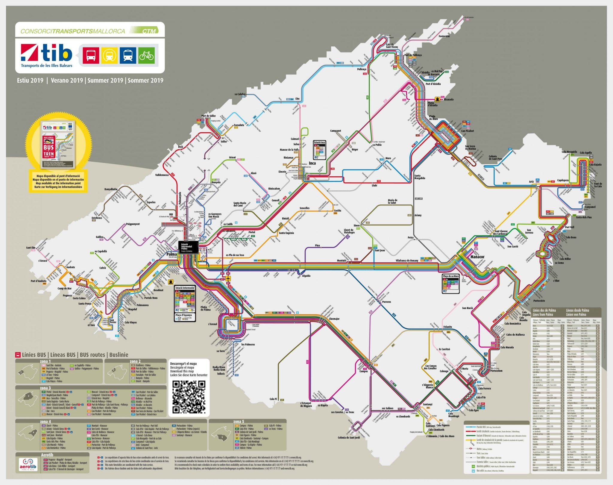 Bus plan Mallorca 2019