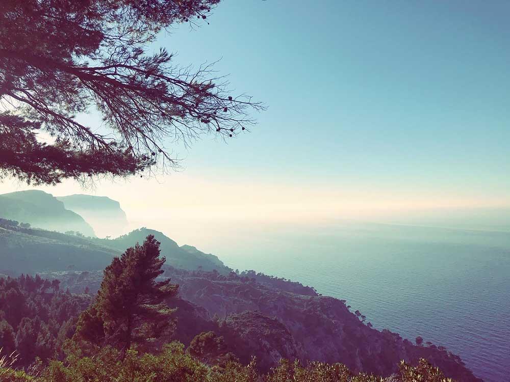 Aussicht aufs Meer von der Sierra de Tramuntana