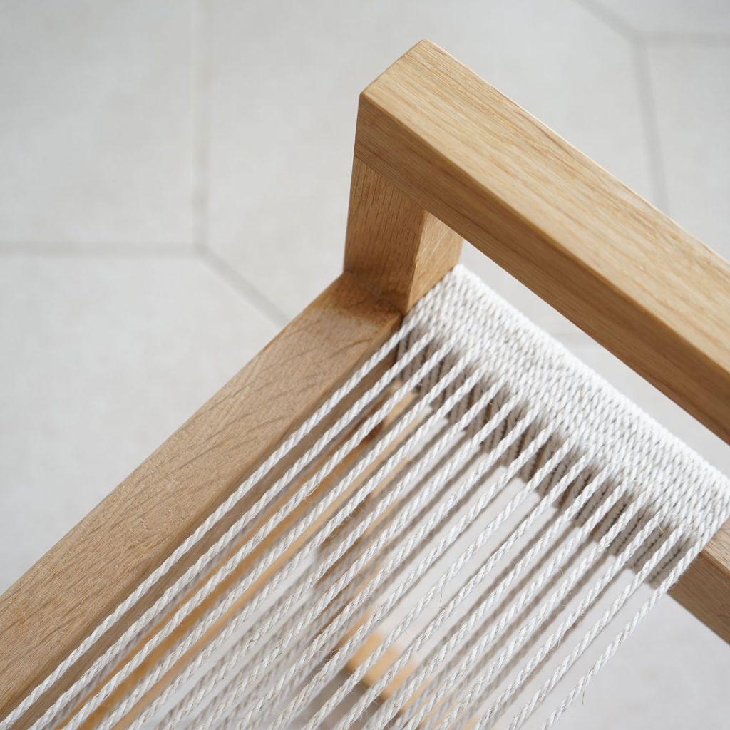 natural stool artisan studio jaia furniture design mallorca palma chair interior maker lokal local handmade weaver weaving sustainable