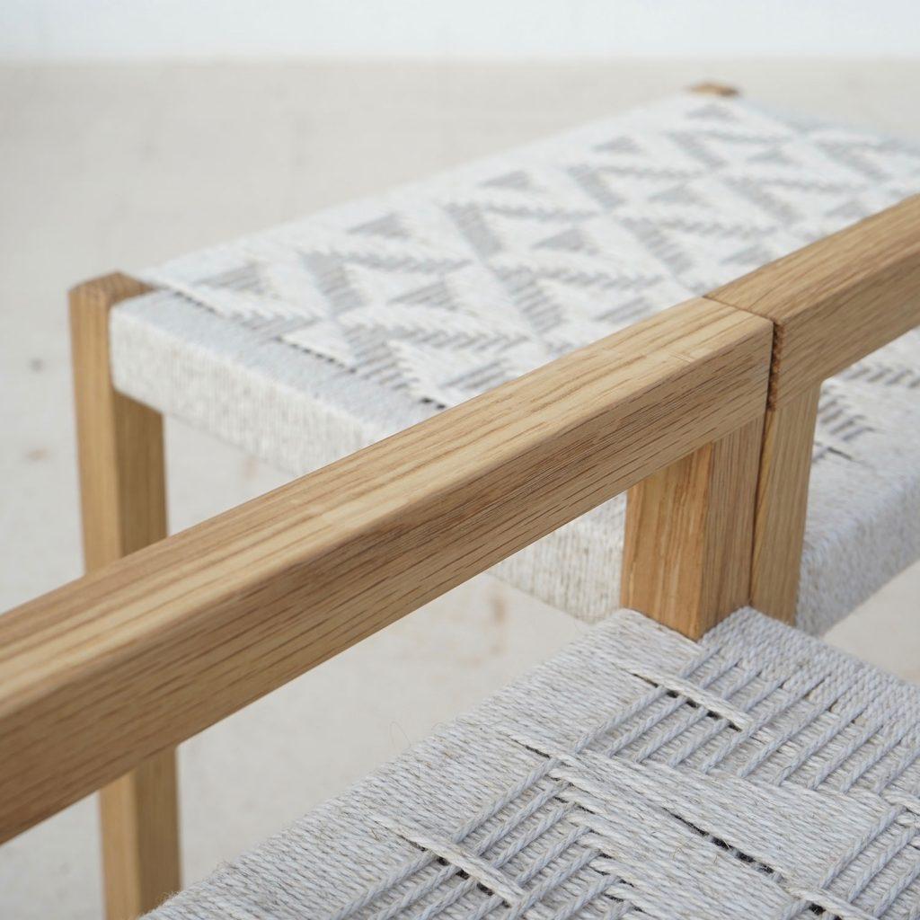 pattern craft natural stool artisan studio jaia furniture design mallorca palma chair interior maker lokal local handmade weaver weaving sustainable