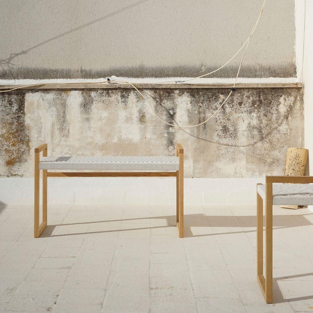 modern elegant beauty pattern craft natural stool artisan studio jaia furniture design mallorca palma chair interior maker lokal local handmade weaver weaving sustainable