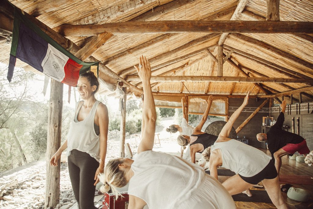 bhakti mountainretreat olivar ahimsa jivamukti yoga mallorca spain lily sielaff vinyasa sharon gannon david life private classes retreat soller serra de tramuntana healthy holidays meditation peace