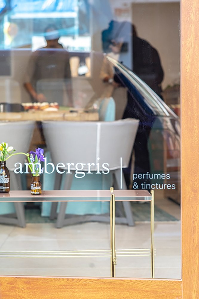 Ambergris Parlour Palma's sanctuary for planet-conscious beauty and perfume. sustainable fairtrade ethical cosmetic beauty perfumes shop kosmetik laden besonders tinkturen tinctures