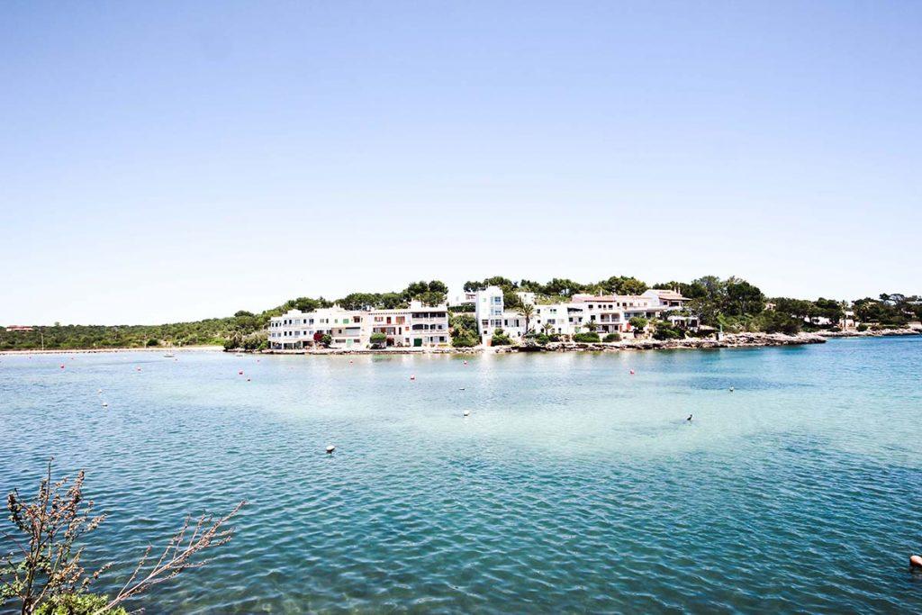 vacaciones mallorca portopetro vista casas agua clara azules