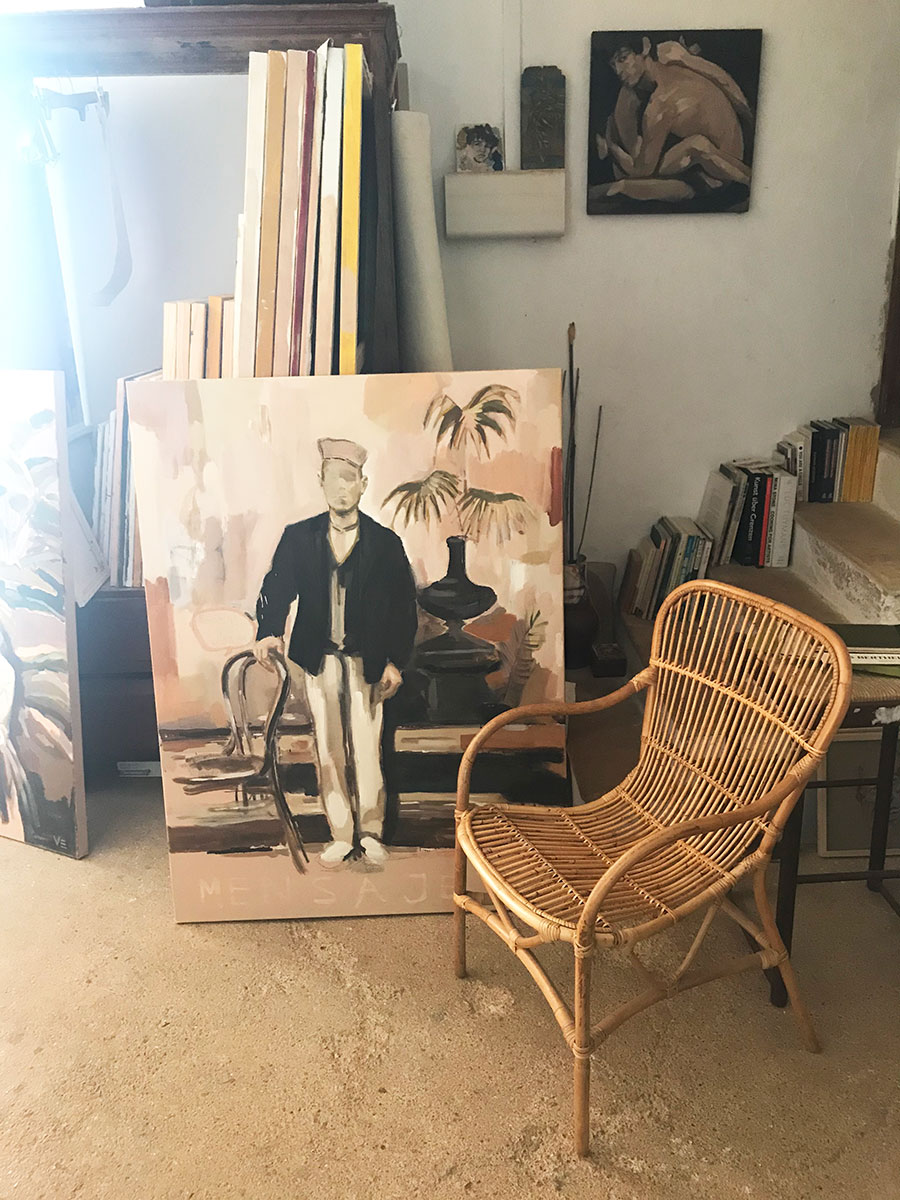 title.vera.edwards.artist.mallorca.painter.oil.canvas.amics