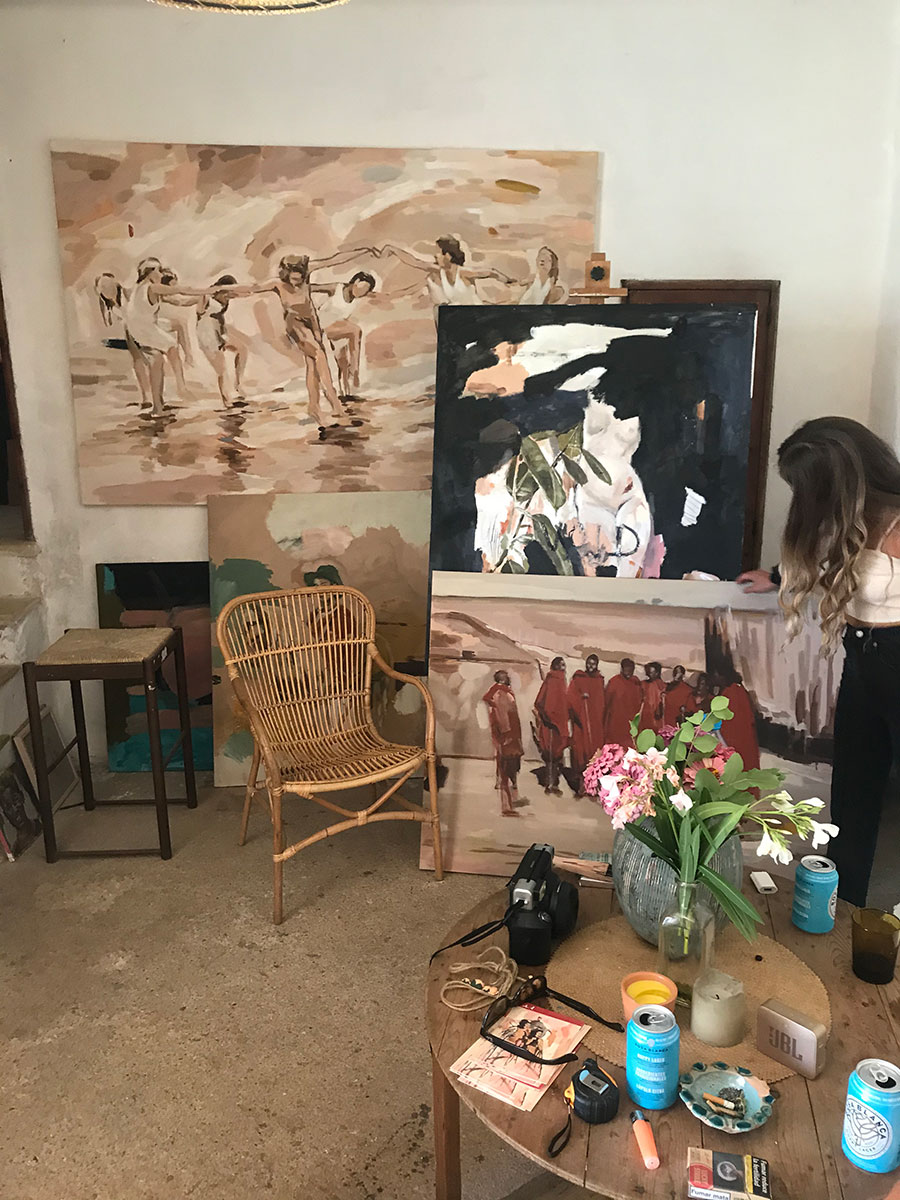 vera.edwards.artist.mallorca.painter.oil.canvas.dip.dance