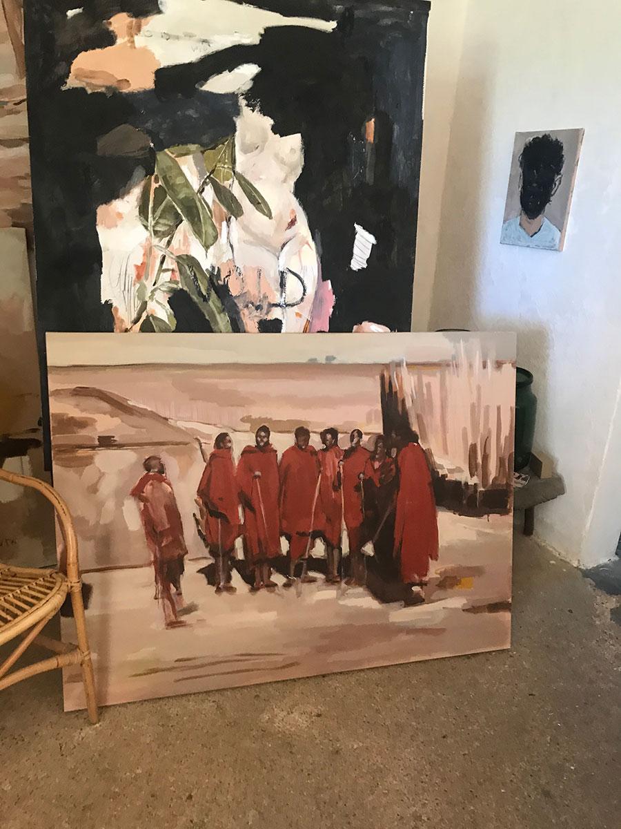 vera.edwards.artist.mallorca.painter.oil.canvas.massai